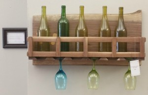 6 Glass Handmade Wine Rack