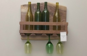 4 Glass Handmade Wine Rack